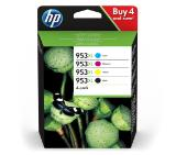 HP 953XL High Yield C/M/Y/K Original Ink Cartridge, 4-pack